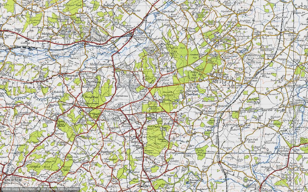 Old Map of Aldermaston Soke, 1945 in 1945