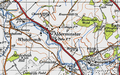 Old map of Alderminster in 1946