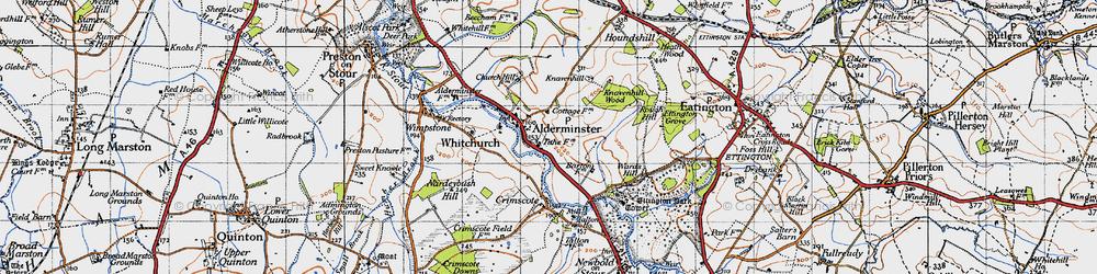 Old map of Alderminster in 1946