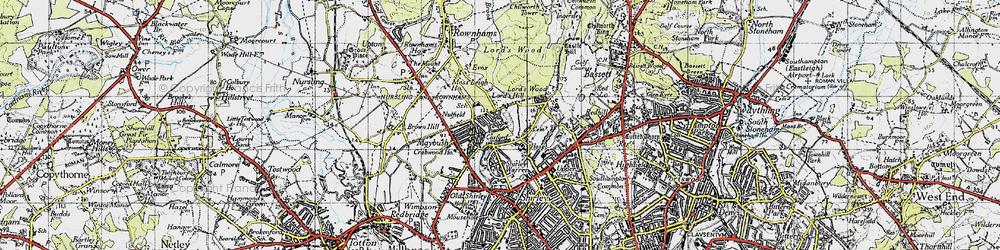 Old map of Aldermoor in 1945