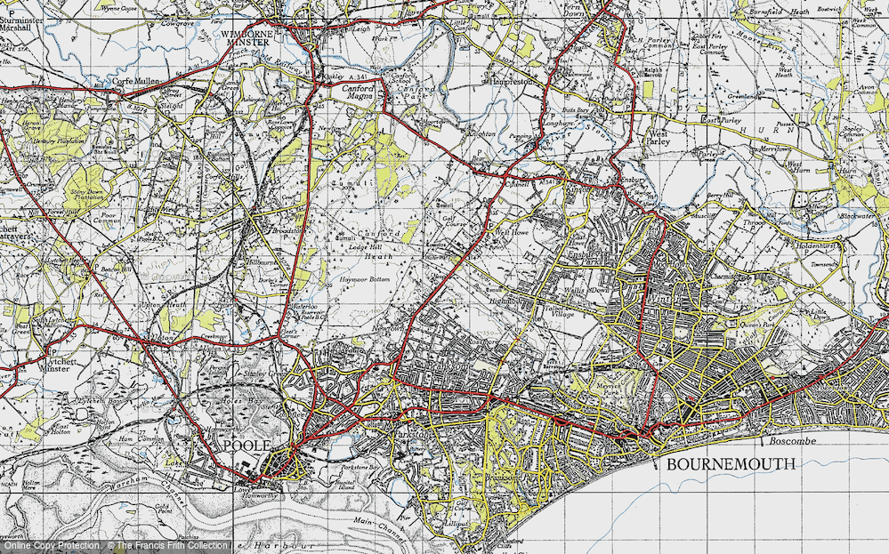 Old Map of Alderney, 1940 in 1940