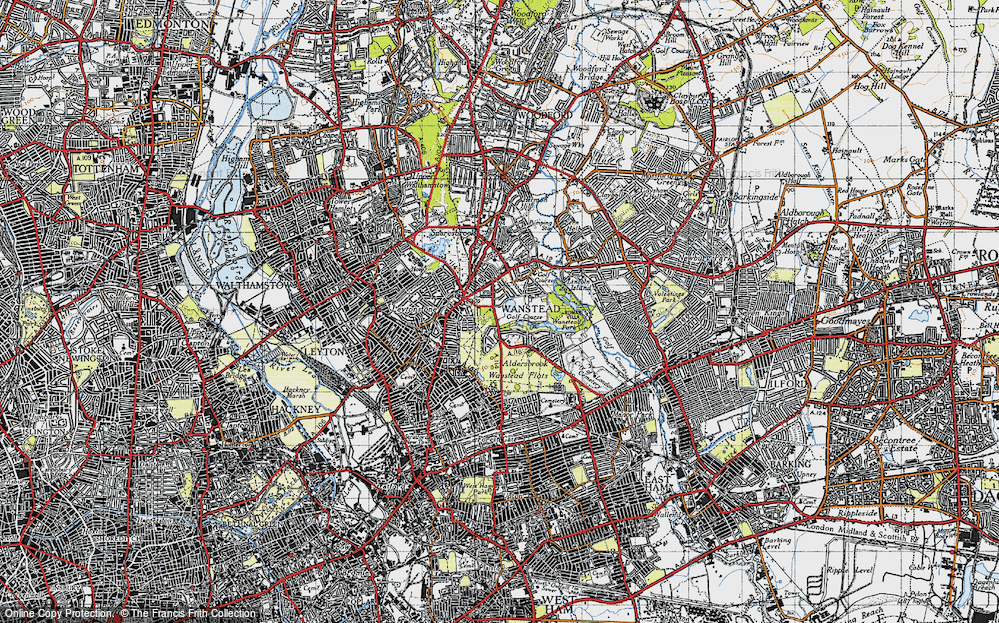Old Map of Aldersbrook, 1946 in 1946