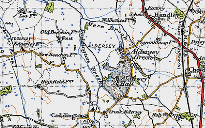 Old map of Aldersey Park in 1947