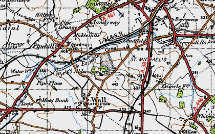 Old map of Aldershawe in 1946
