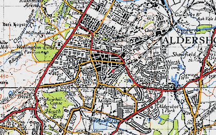 Old map of Aldershot in 1940