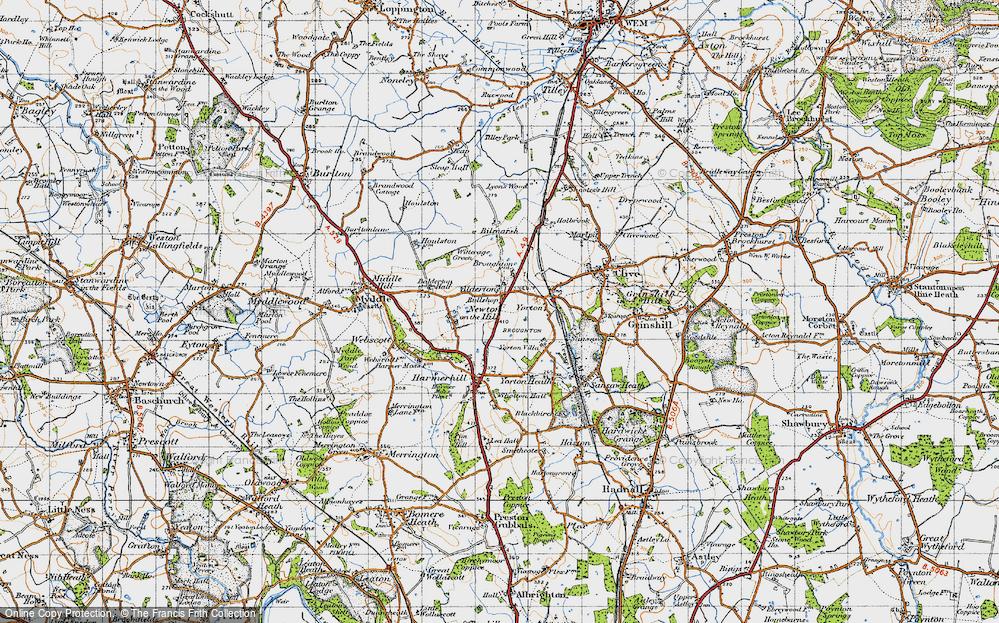 Old Map of Alderton, 1947 in 1947