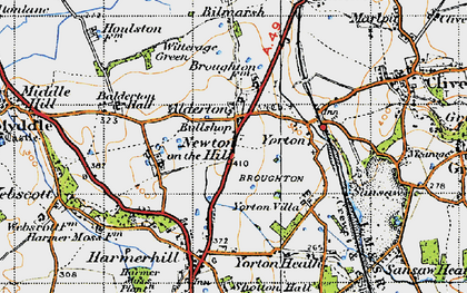 Old map of Alderton in 1947