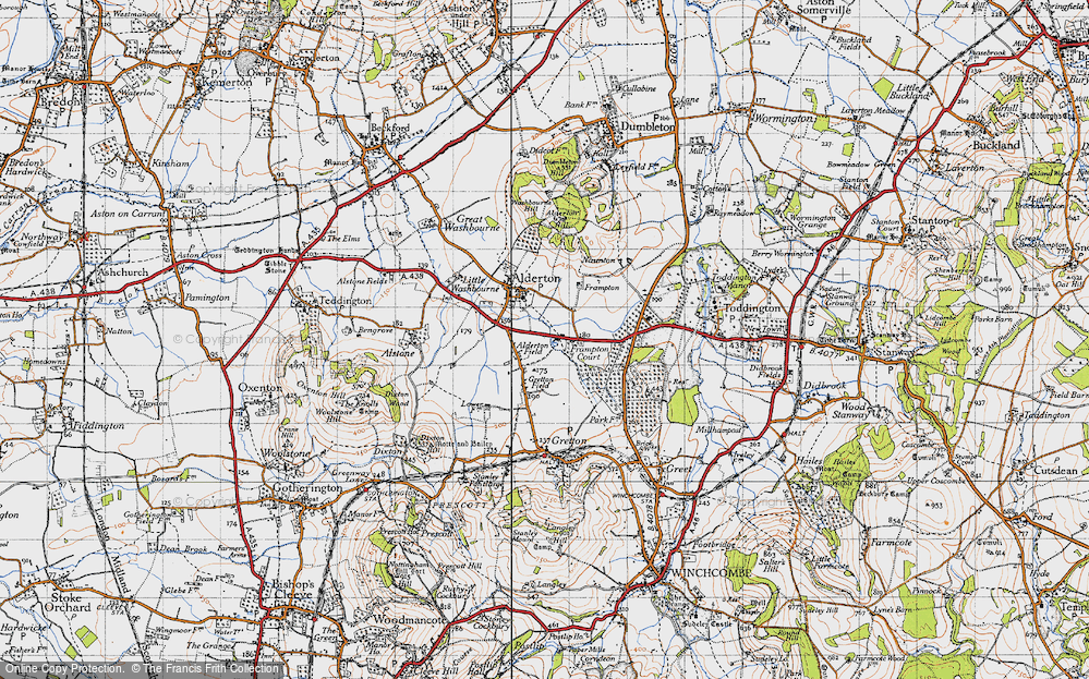 Old Map of Alderton Fields, 1946 in 1946