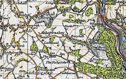Old map of Alderwasley Hall (School) in 1946