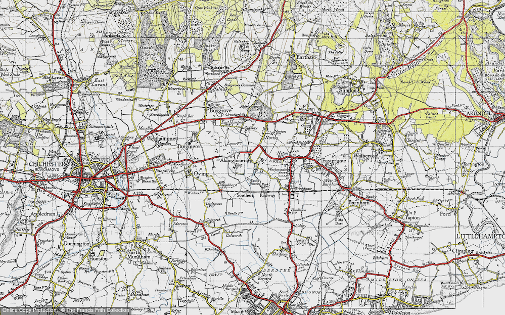 Old Map of Aldingbourne, 1945 in 1945