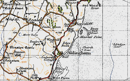 Old map of Aldingham in 1947