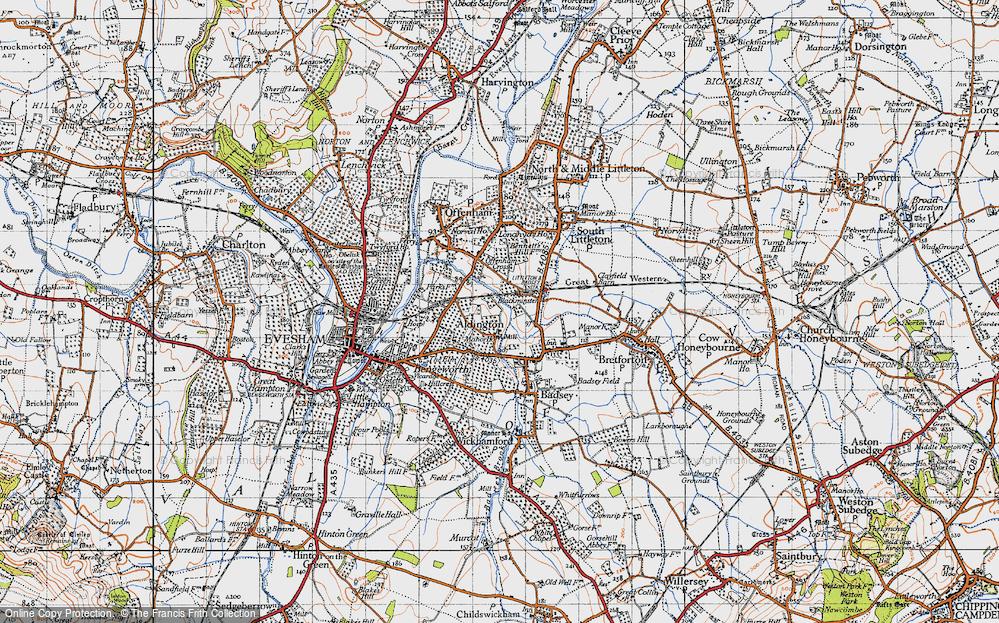 Old Map of Aldington, 1946 in 1946