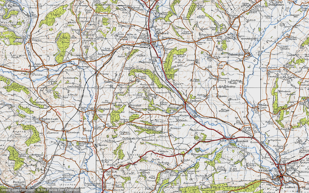 Old Map of Aldon, 1947 in 1947