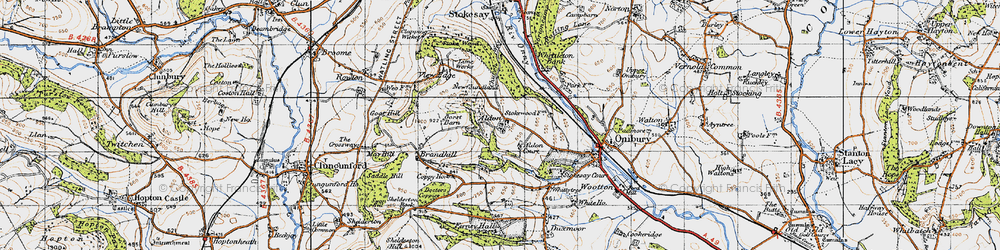 Old map of Aldon in 1947