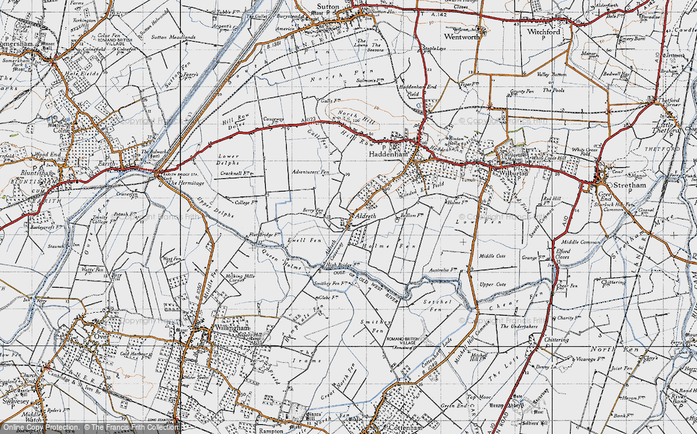 Old Map of Aldreth, 1946 in 1946