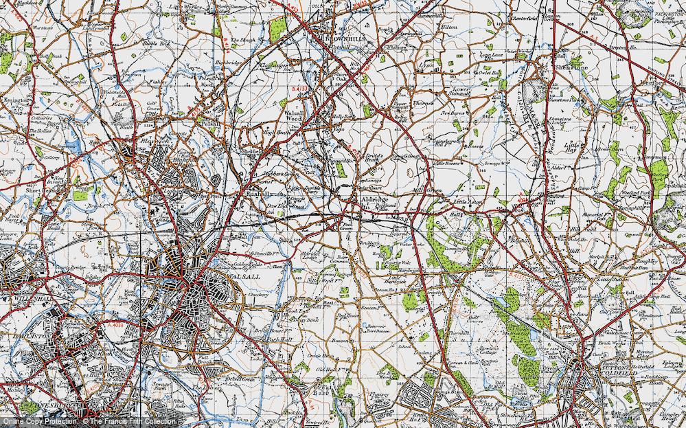 Old Map of Aldridge, 1946 in 1946