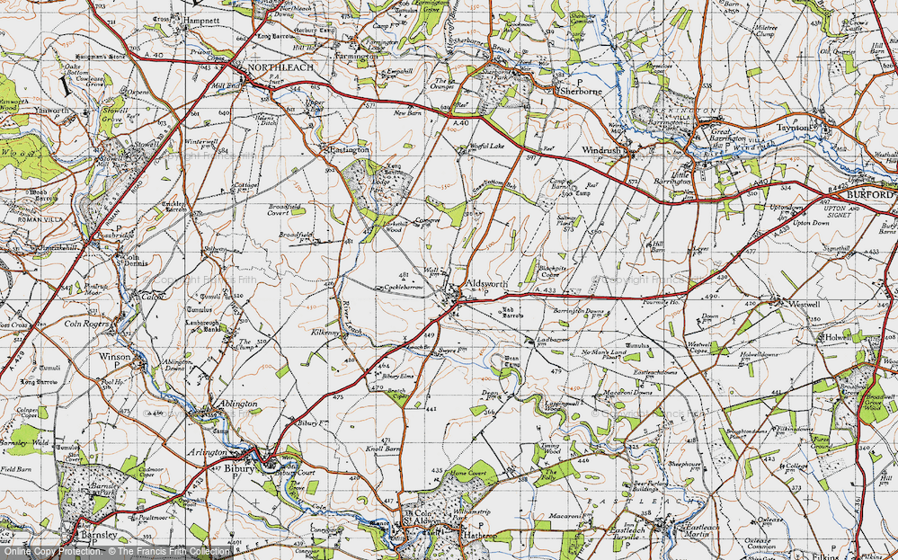 Old Map of Aldsworth, 1946 in 1946