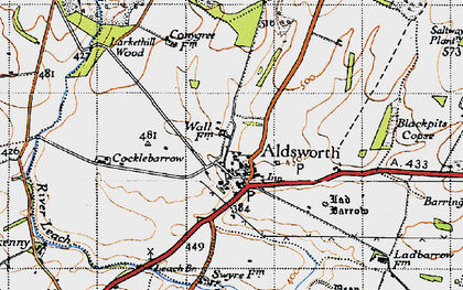 Old map of Aldsworth in 1946