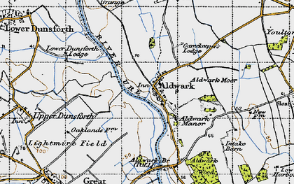 Old map of Aldwark Br Toll in 1947