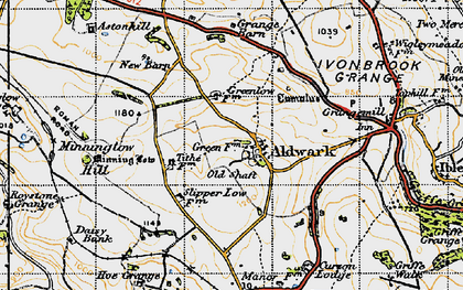 Old map of Aldwark in 1947