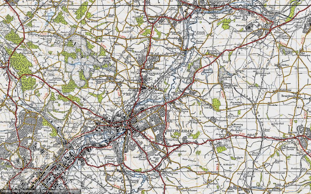 Old Map of Aldwarke, 1947 in 1947