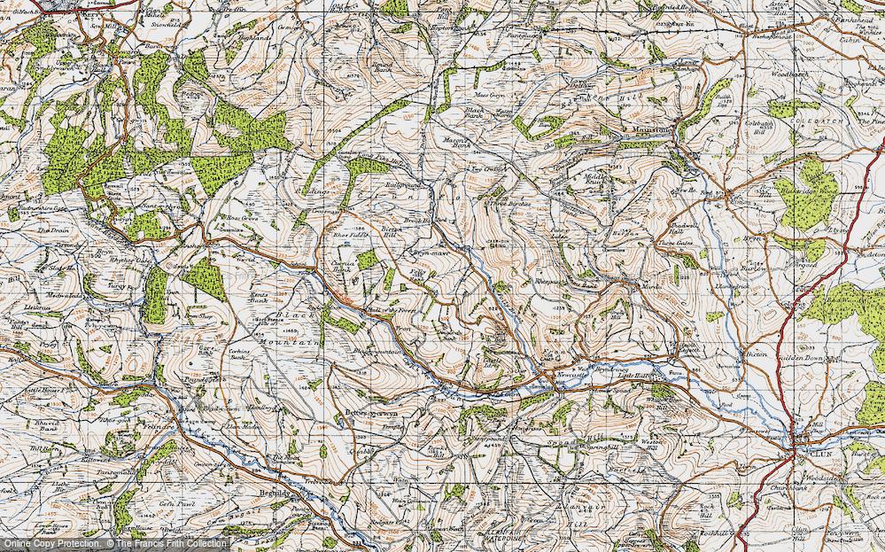 Old Map of Ale Oak, 1947 in 1947