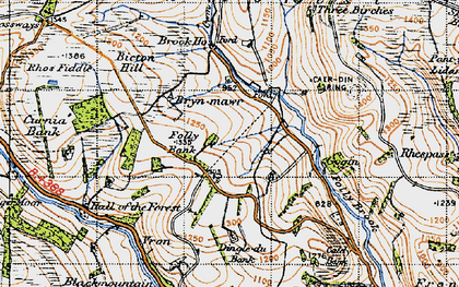 Old map of Ale Oak in 1947