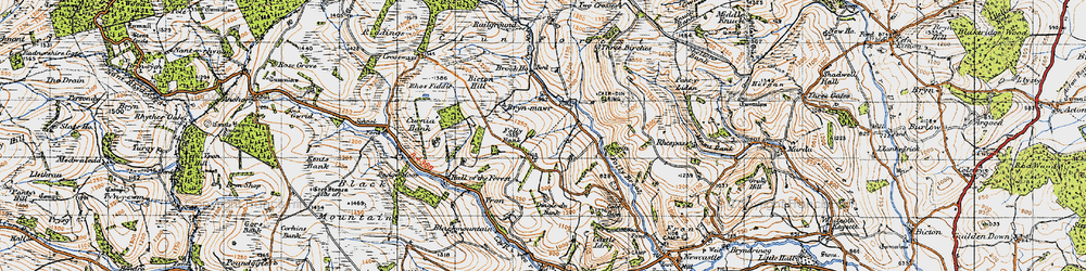 Old map of Ale Oak in 1947