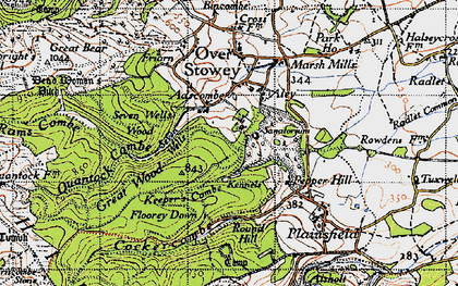 Old map of Aley in 1946