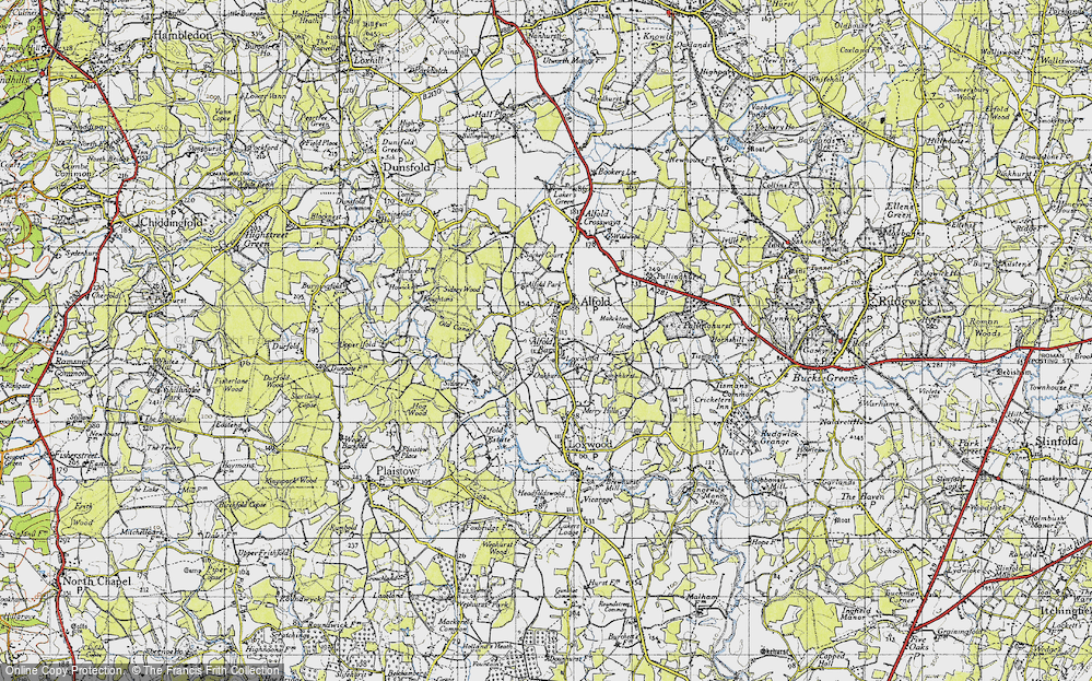 Old Map of Alfold Bars, 1940 in 1940