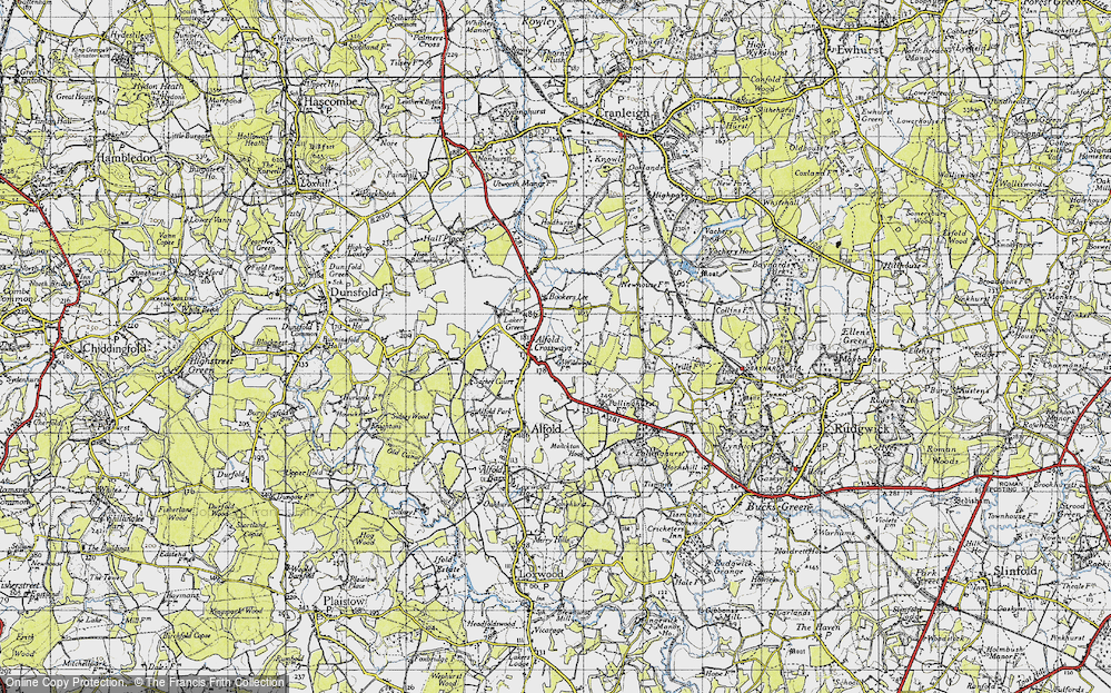 Old Map of Alfold Crossways, 1940 in 1940