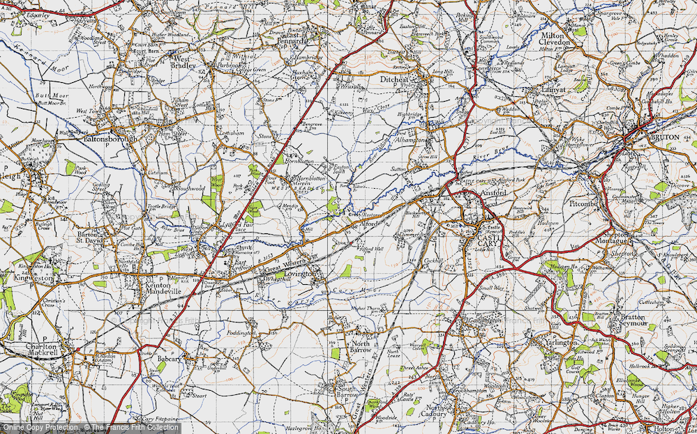 Old Map of Alford, 1945 in 1945