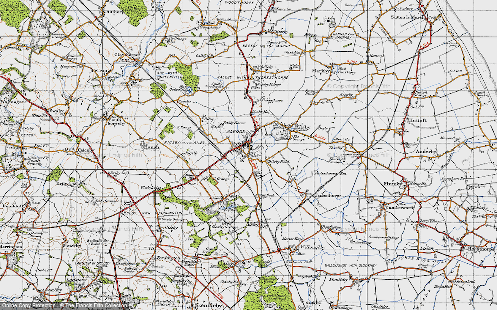 Old Map of Alford, 1946 in 1946