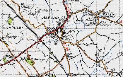 Old map of Alford in 1946