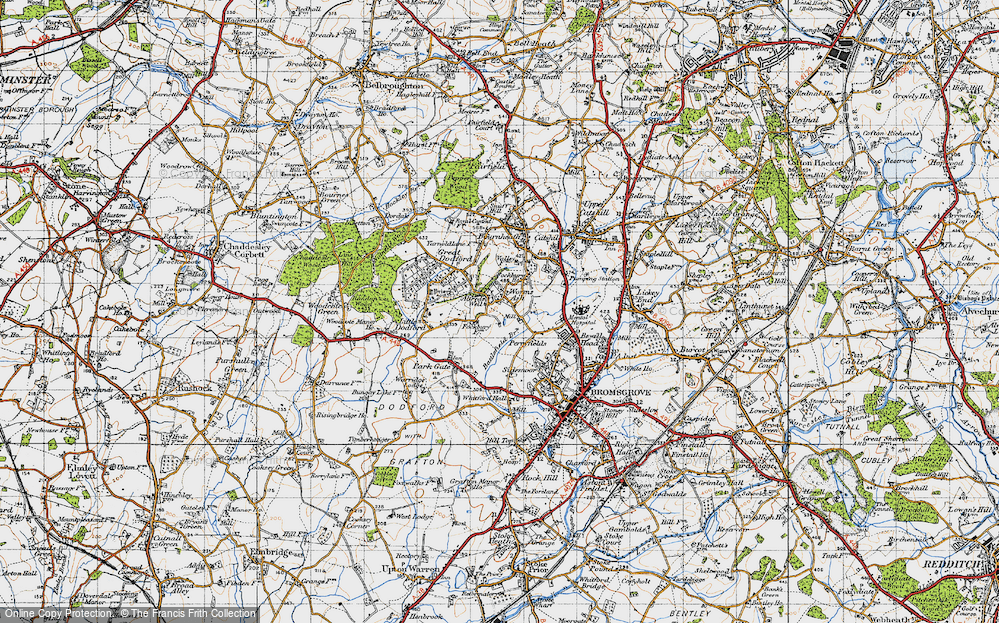 Old Map of Alfred's Well, 1947 in 1947