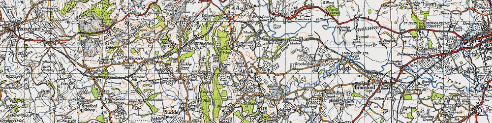 Old map of Alfrick in 1947