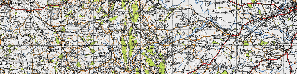Old map of Alfrick Pound in 1947