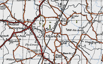 Old map of Algarkirk in 1946