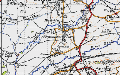 Old map of Alhampton in 1946