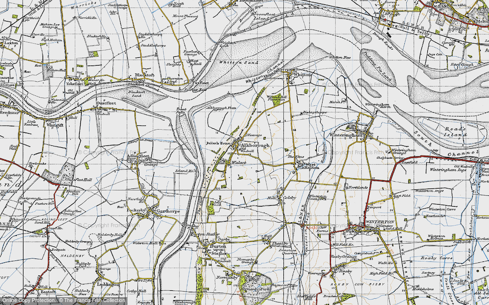 Old Map of Alkborough, 1947 in 1947