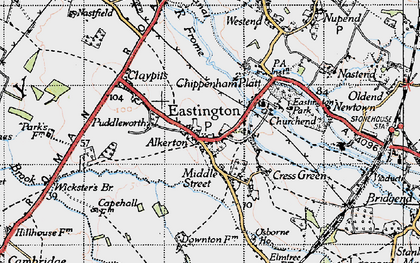 Old map of Alkerton in 1946