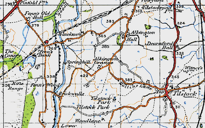 Old map of Alkington in 1947