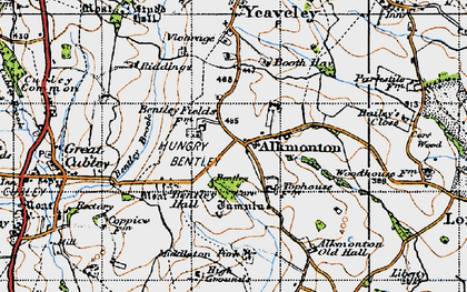 Old map of Alkmonton in 1946