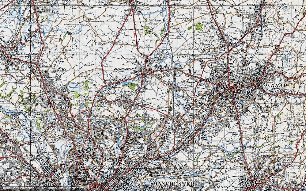 Old Map of Alkrington Garden Village, 1947 in 1947