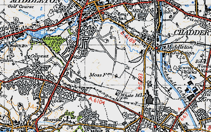 Old map of Alkrington Garden Village in 1947