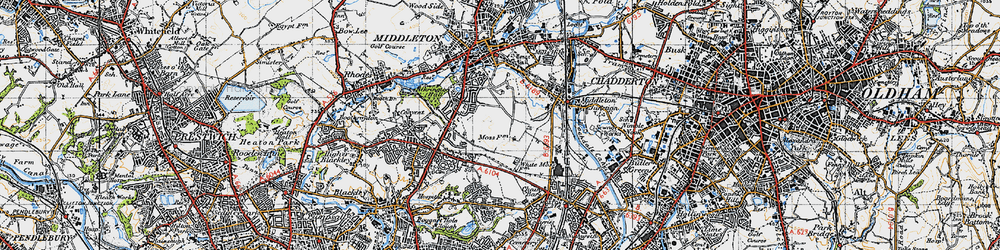 Old map of Tonge Hall in 1947