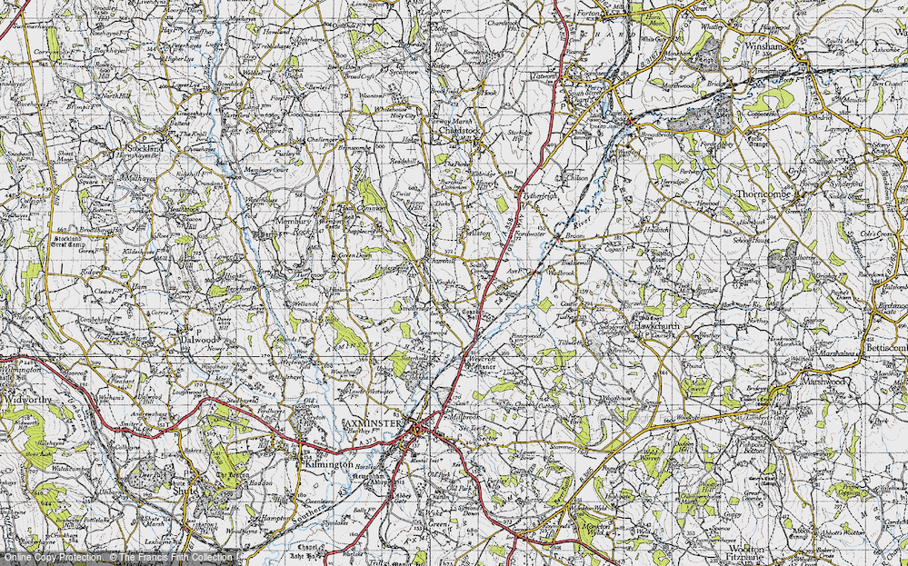 Old Map of All Saints, 1945 in 1945
