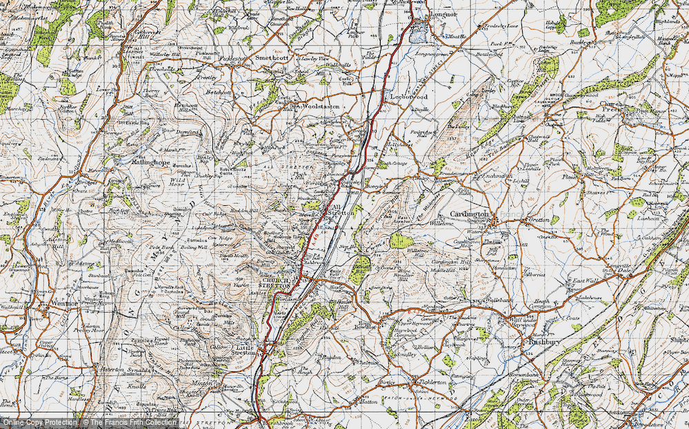 Old Map of All Stretton, 1947 in 1947