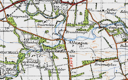 Old map of Whitemire in 1947
