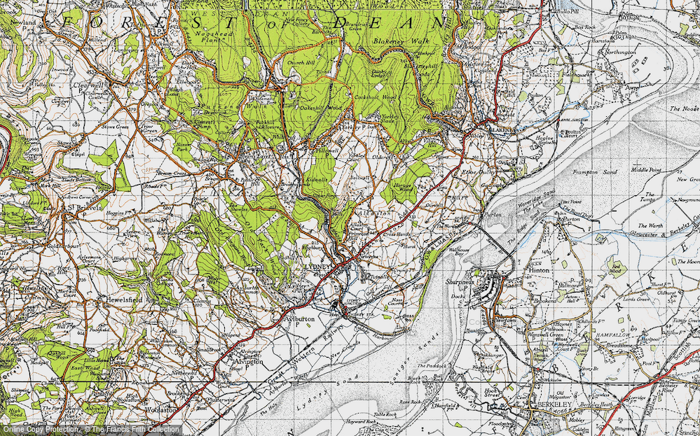 Old Map of Allaston, 1946 in 1946